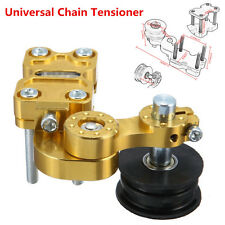 Universal Golden Aluminum Adjuster Chain Tensioner Bolt On Roller For Motorcycle