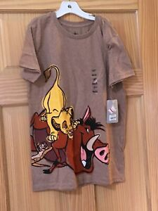 NWT Disney Store Lion King Simba T-shirt Tee Top Boy Brown 10/12 Pumba