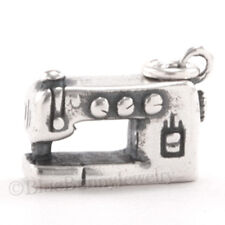 3D SEWING MACHINE Arts Crafts 925 Charm Pendant .925 Sterling Silver very Solid