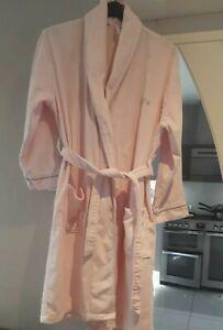 Per Una Ladies Pink Cotton Velour Bath Robe Dressing Gown 12/14 Small Dismonte