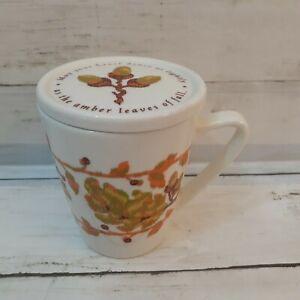 Hallmark - Autumn Leaf Mug with Lid by Jan Karon - May Your Heart Dance Lightly