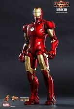 "Hot Toys 1/6 12"" MMS256 D07 Iron Man Mark III Robert Downey Jr Diecast Figure"