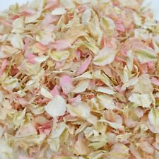 1200 + Delphinium confetti Petals biodegradable Natural Pink and Ivory mix
