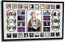 PINK BEAUTIFUL TRAUMA WORLD TOUR 2018 SIGNED LIMITED EDITION FRAMED MEMORABILIA
