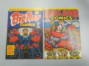 Big Ass Comics #1 1969 (7th print), #2 (4th print)1971 R. Crumb RIP Off Press