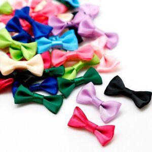 Bow Knot Silk Mini Satin Ribbon 100pcs Tie Craft Scrapbooking Wedding Decoration