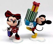 A9 Hallmark Ornament Dashing Through The Mall Mickey Minnie Mouse Christmas Shop