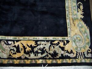 Tibetan hand woven carpet  good wool and good condition 8 ft x 10ft 6 in