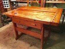 Antique Christiansen Workbench Cabinet maker Carpenter bench  1930's