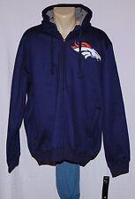 Denver Broncos Sherpa Hoodie Full Zip Sweatshirt Jacket LRG - NFL Mens