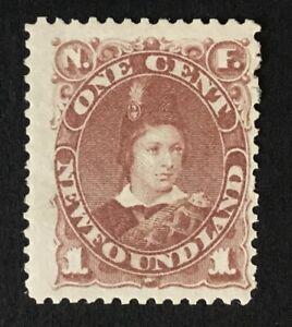 Newfoundland Q. Victoria 1888 1c red brown m/m SG 44b. (Cat £55)