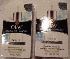 Olay Regenerist Luminous Facial Oil 1.3 Fl Oz - Lot of 2