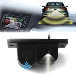 2 in1 Car Parking Reverse Sensor Radar Rearview Backup Night Vision Camera