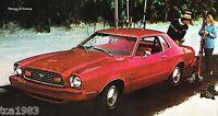 1976 Ford MUSTANG II (2) Brochure/Catalog: MACH 1,COBRA,GHIA,STALLION,