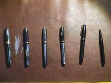 Lot of Six Broken English Waterman's Fountain Pens