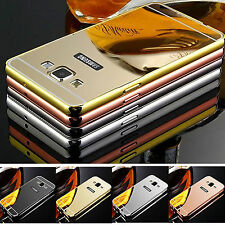For Various Mobile Phone Hard Luxury Shiny Aluminum Mirror Metal Back Case Cover