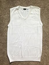 Men's La Redoute V-Neck Vest Top, White, Size Small