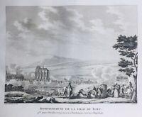 Lille Bombardamento IN 1792 Nord Rara Stampa Rivoluzione Francese
