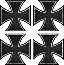 """761.2.5 ProSticker Four 2.5"""" Rat Rod Iron Cross Decals Stickers Distressed Parts"""