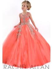 Free Petticoat Orange Birthday Pageant Flower Girl Princess Formal Dance Dresses