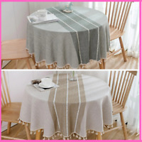 Tablecloth Round White Lace Party Linen With Embroidery Chair Sashes For Wedding