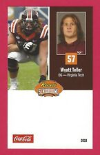 WYATT TELLER 2018 REESE'S SENIOR BOWL RC VIRGINIA TECH VT HOKIES ROOKIE CARD