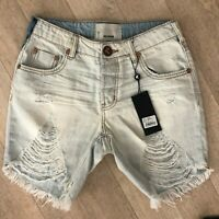 One Teaspoon Short Jeans Brando STEVIES 22 23 24 25 Distressed Denim Ripped NWT