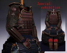 Japan Antique Edo Kozane IyozaneYoroi set armor koshirae katana samurai Busho 赤鎧
