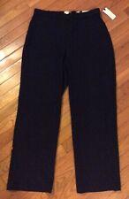 Pull On Straight Dress Pants size 8 S Dana Buchman Navy Uniform Elastic Waist