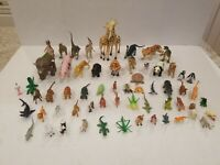 Huge Lot 50++ Nice Assorted Children's Small Animal Toys & Figurines Dinosaurs!.