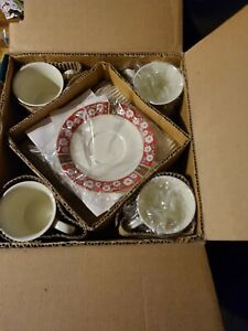 Kobe Charlton Hall Classic Tradition 12 Pc Porcelain Dinner Set Plate Cup Saucer
