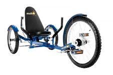 """Mobo Incrociatore """" Triton pro """" Bicicletta Reclinata Tre-Ruote - Ruote Blu"""
