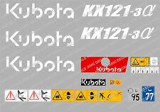 Kubota KX121-3 Mini Escavatore Completo Set Decalcomania Adesivi