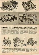 1957 PAPER AD Auburn Miniature Toy Indian Braves Kit Carson Lone Ranger Tonto
