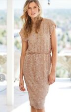 BEAUTIFUL * NEXT * BLUSH SEQUIN COCKTAIL PARTY DRESS SIZE 10 NEW