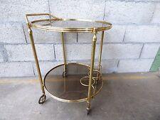 table desserte roulante laiton dorée vintage trolley Bar Cart
