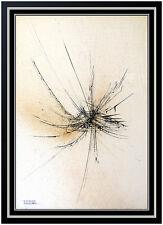 Leonardo Nierman Original Oil Painting On Canvas Signed Abstract Cosmic Artwork