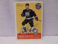 2001 Topps Heritage Vincent Lecavalier Autograph card / Tampa Bay Lightning