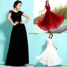 New Womens Bridesmaid Evening Party Ball Gown Summer Beach Boho Maxi Long Dress