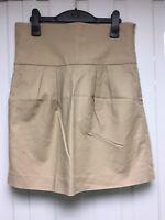 Zara Woman Cream Beige Skirt Size M