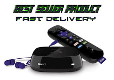 stream content to TV with USB drive and voice search Roku 3 Streaming Media Play