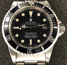 "VINTAGE ROLEX SEA DWELLER ""GREAT WHITE"" 1665 MATTE BLACK MKII RAIL DIAL W/PAPERS"