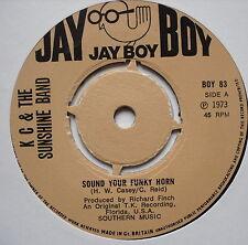 "KC & THE SUNSHINE BAND - Sound Your Funky Horn - Ex Con 7"" Single Jay Boy BOY 83"