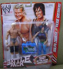 WWE DOLPH ZIGGLER & VICKIE GUERRERO BATTLE PACK FIGURES *NEW*