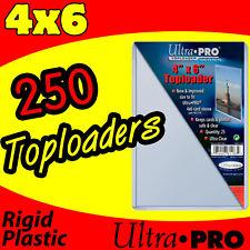 250 ULTRA PRO 4x6 HARD RIGID TOP LOAD TOPLOADER POSTCARD PHOTO HOLDER SLEEVES