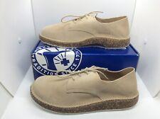 BIRKENSTOCK Mens Gary Sand Taupe Suede Oxfords Shoes Sz 9 EU42 ZB6-1223