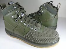 Nike Lunar Force 1 Duckboot Medium Olive Gum Silver SZ 7.5 3(805899-201)