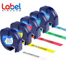 5X Compatible Dymo LetraTag Plastic 12mm Label Tape Laminated 91201 91202 91203