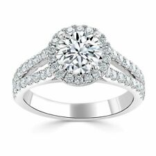 1.70 Ct Round Diamond Engagement Wedding Ring 18K Real White Gold Size 6 7 8.5