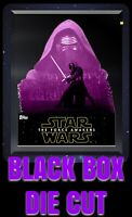 SUPER RARE Topps STAR WARS digital CARD TRADER KYLO REN BLACK BOX DIE CUT 134c